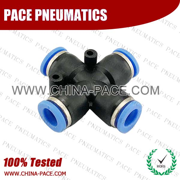PZA,Pneumatic Fittings with NPT AND BSPT thread, Air Fittings, one touch tube fittings, Pneumatic Fitting, Nickel Plated Brass Push in Fittings