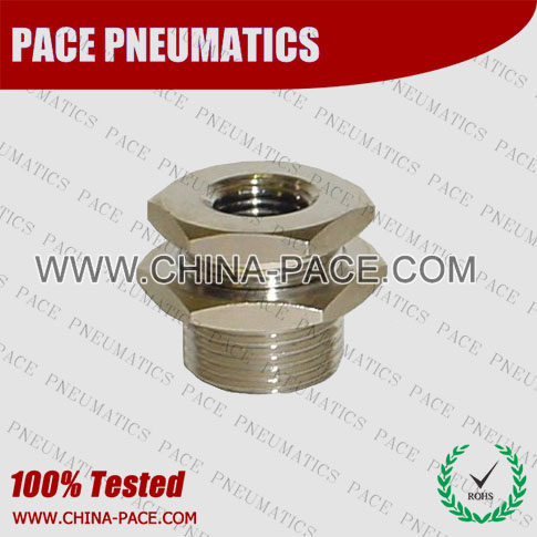 Pmfm,Brass air connector, brass fitting,Pneumatic Fittings, Air Fittings, one touch tube fittings, Nickel Plated Brass Push in Fittings