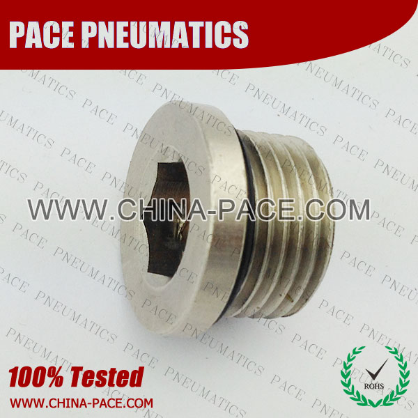Pohh,Brass air connector, brass fitting,Pneumatic Fittings, Air Fittings, one touch tube fittings, Nickel Plated Brass Push in Fittings