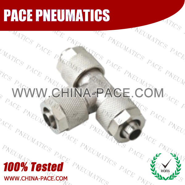 Pohf,Brass air connector, brass fitting,Pneumatic Fittings, Air Fittings, one touch tube fittings, Nickel Plated Brass Push in Fittings