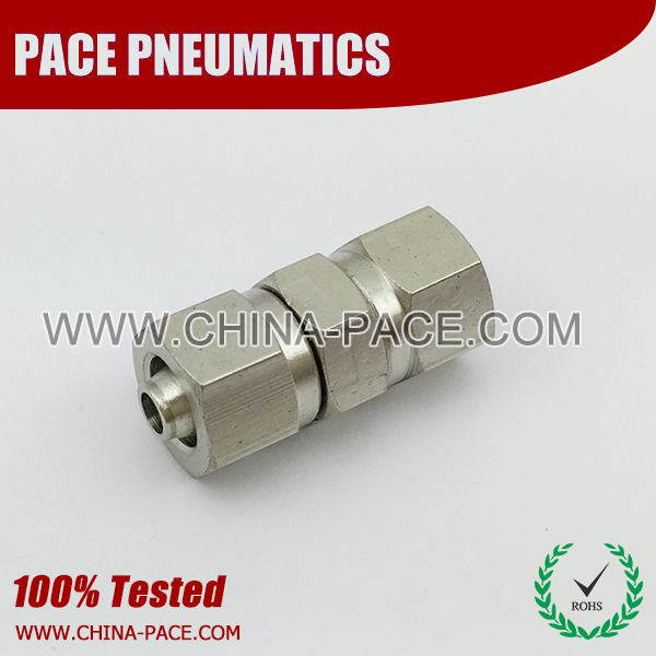 union straight stainless steel two touch fittings, push on fittings, SUS rapid fittings
