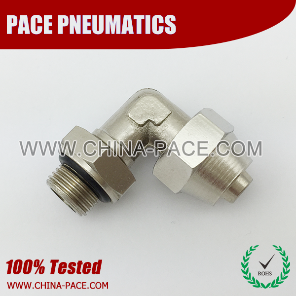 male swivel eblow stainless steel two touch fittings, push on fittings, SUS rapid fittings