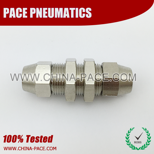 bulkhead Union stainless steel two touch fittings, push on fittings, SUS rapid fittings