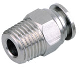 Stainless Steel Push-In Fittings (BSPT, BSPP thread and Metric Tubing)
