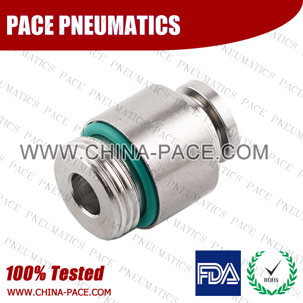 G Thread Round Male Straight Stainless Steel Push To Connect Fittings, Round Male Stainless Steel Push In Fittings