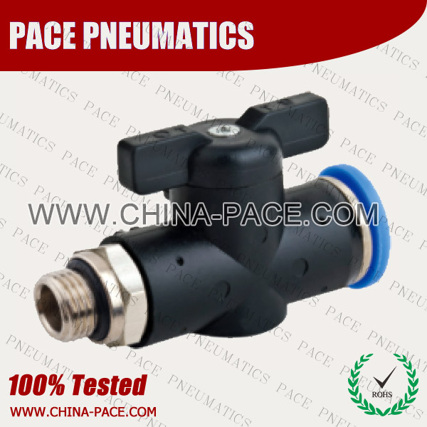 HVFF,Hand Valve,Pneumatic Fittings, Air Fittings, one touch tube fittings, Pneumatic Fitting, Nickel Plated Brass Push in Fittings