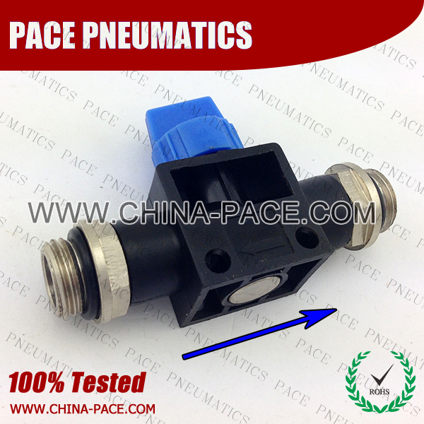 HVSS-G,Hand Valve,Pneumatic Fittings, Air Fittings, one touch tube fittings, Pneumatic Fitting, Nickel Plated Brass Push in Fittings